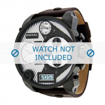 Diesel correa de reloj DZ7126 Cuero Marrón oscuro 29mm