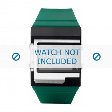 Diesel correa de reloj DZ7212 Silicona Verde 23mm
