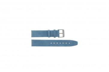 Correa de reloj de cuero genuino de silla de montar azul 22mm G-33