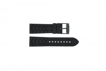Correa de reloj Fossil FS4487 / FS4628 / FS4605 / JR1425 Silicona Negro 24mm