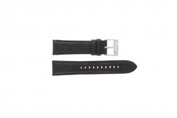 Fossil correa de reloj FS4672 Cuero Negro 22mm + costura predeterminada