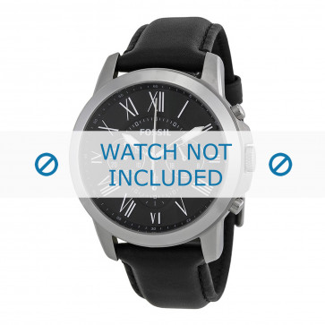 Fossil correa de reloj FS-4812 Piel Negro 22mm