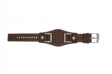 Fossil correa de reloj JR1157 Cuero Marrón 24mm + costura predeterminada