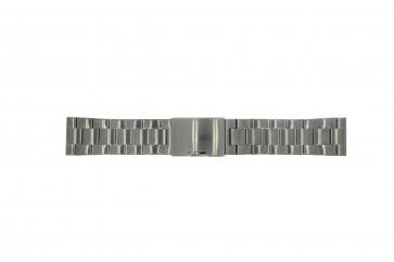 Fossil correa de reloj FS4662 / 12XXXX / 25XXXX Metal Gris antracita 24mm