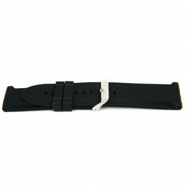 Correa de reloj Goma 26mm Negro EX K63 26 2 26