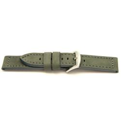 Correa de reloj de cuero genuino gris 24mm I814