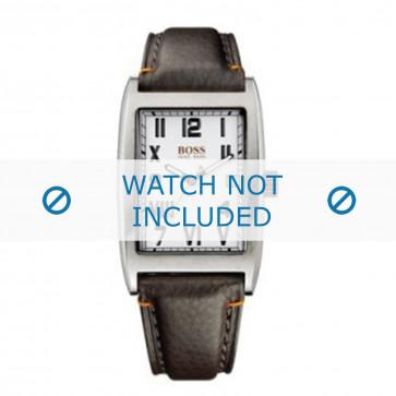 Hugo Boss correa de reloj HO1512135 / HB-33-1-14-2056 Cuero Marrón + costura predeterminada
