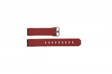 Correa de reloj de cuero genuino roja Jacob Jensen 800 serie 17mm