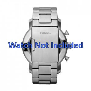 Fossil correa de reloj JR1353 Metal Plateado 24mm