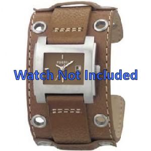 Fossil correa de reloj JR8149 Cuero Marrón 18mm + costura predeterminada