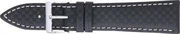 Correa de carbono negro con costuras blancas 24mm 321