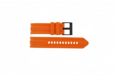Correa de reloj Nautica A17586G Caucho Naranja 24mm