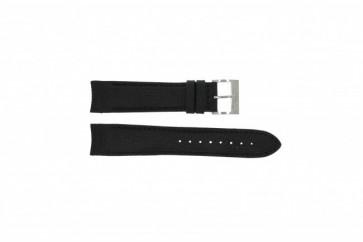 Nautica correa de reloj A15102G / A24520G / N16553G Silicona Negro 22mm + costura negro