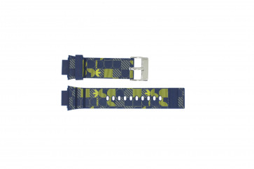 Adidas correa de reloj ADH6106 Goma Azul 16mm