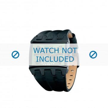 Police correa de reloj PL-12079JSB-05A Cuero Negro 36mm + costura marrón