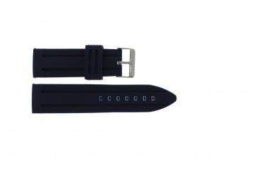 Correa de reloj Universal 253 Silicona Azul 26mm