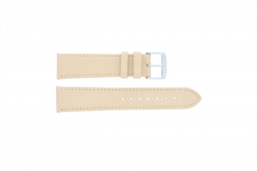 Correa de reloj de cuero genuino color crema / beige 24mm 283