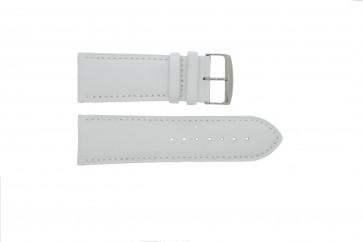 Correa de reloj de cuero genuino color blanco 32mm