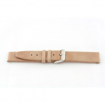 Correa de reloj de cuero genuino color beige 24mm G33