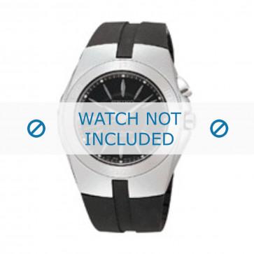 Seiko correa de reloj 5M62-0AL / SKA203J2 Caucho Negro 16mm