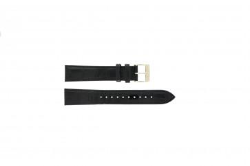 Seiko correa de reloj 7N32-0DE0 Piel Negro 18mm