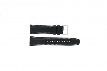 Correa de reloj Seiko 7T62-0HL0 / SNAB55P1 / 4LR4JB Cuero Negro 24mm