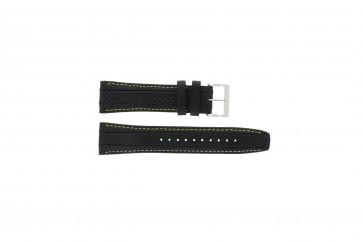 Correa de reloj Seiko 7T62-0HL0 / SNAB57P1 / 4LP3JB Cuero Negro 24mm