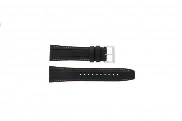 Correa de reloj Seiko 7T62-0HL0 / SNAB59P1 / 4LP4JB Cuero Negro 24mm