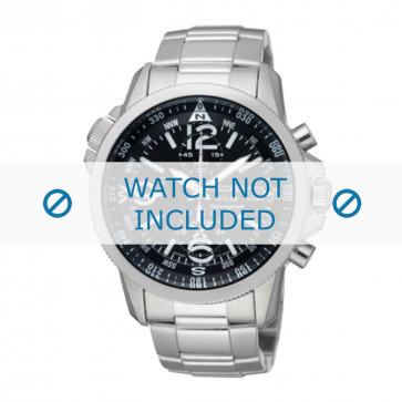 Seiko correa de reloj V172-0AG0 / SSC075P1 Metal Plateado 21mm