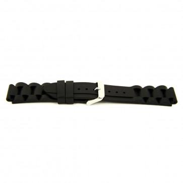 Other brand correa de reloj SL101 Silicona Negro 22mm