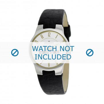 Skagen correa de reloj 433SSGL1 Cuero Marrón oscuro 16mm