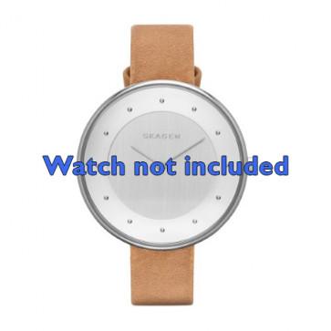 Skagen correa de reloj SKW2326 Piel Marrón 14mm