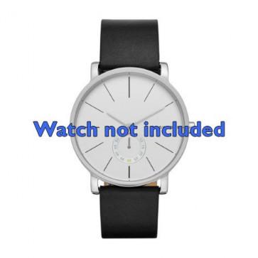 Correa de reloj Skagen SKW6274 Cuero Negro 20mm
