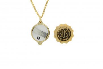 SOS colgante talismán  con cadena (soshk)