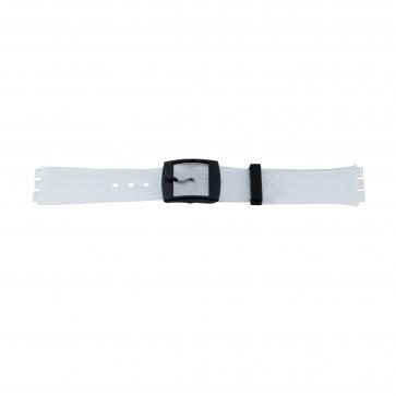 Correa de reloj Swatch (alt.) 51.00 Plástico Transparente 17mm