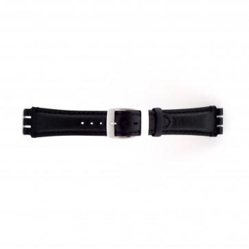 Correa de reloj Swatch SC14.01 Cuero Negro 19mm