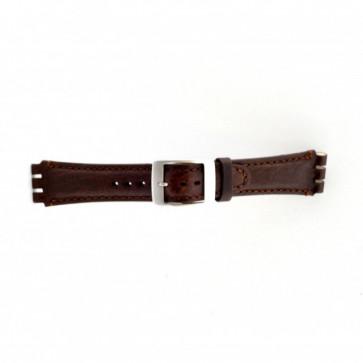 Correa de reloj Swatch (alt.) SC14.02 Cuero Marrón 19mm