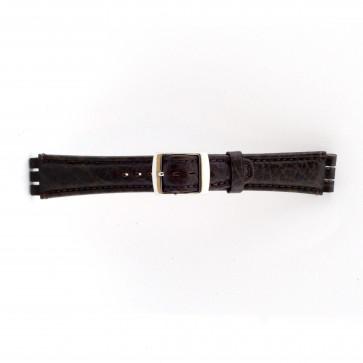 Correa de reloj Swatch (alt.) 21412.27 Cuero Marrón 19mm