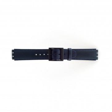 Correa de reloj Swatch SC11.05 Cuero Azul 17mm