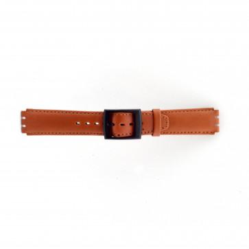 Correa de reloj Swatch SC11.03 Cuero Marrón 17mm