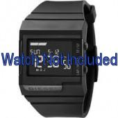 Diesel correa de reloj DZ7150 Silicona Negro 23mm