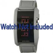 Diesel correa de reloj DZ7163 Silicona Gris  24mm