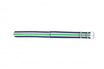 Timex correa de reloj TW7C07000 Textil Azul 20mm