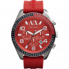 Correa de reloj Armani Exchange AX1252 Silicona Rojo 22mm