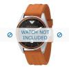 Armani correa de reloj AR0526 Silicona Naranja 23mm