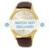 Correa de reloj Seiko 7N42-0GG0 / SGEH56P1 Piel de cocodrilo Marrón 21mm
