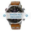 Correa de reloj Seiko V176-0AG0 / SSC421P1 / L0F8011J0 Cuero Cognac 20mm