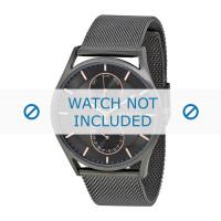 Correa de reloj Skagen SKW6180 Milanesa Gris antracita 22mm