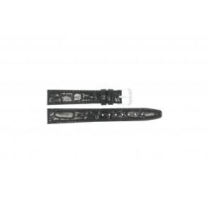 Correa de reloj de cuero tipo cocodrilo lacada 10mm 082