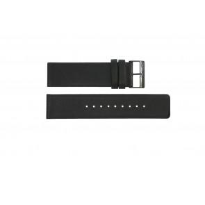 Correa de reloj Obaku 116-Z Cuero Negro 24mm